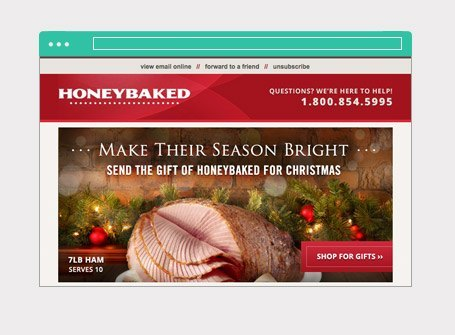 HoneyBaked Ham Email Marketing